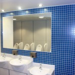 Brentford Fountain Leisure Centre, Sinks Blue Tiling