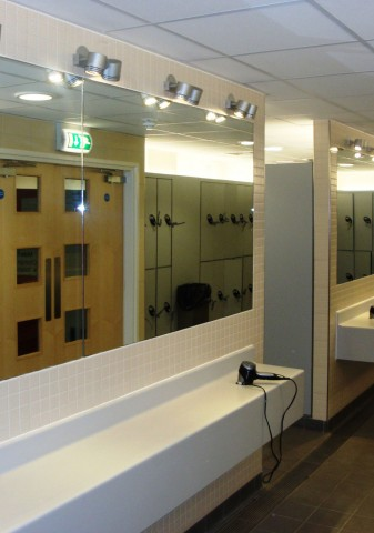 Brentford Fountain Leisure Centre, Changing Room Mirrors