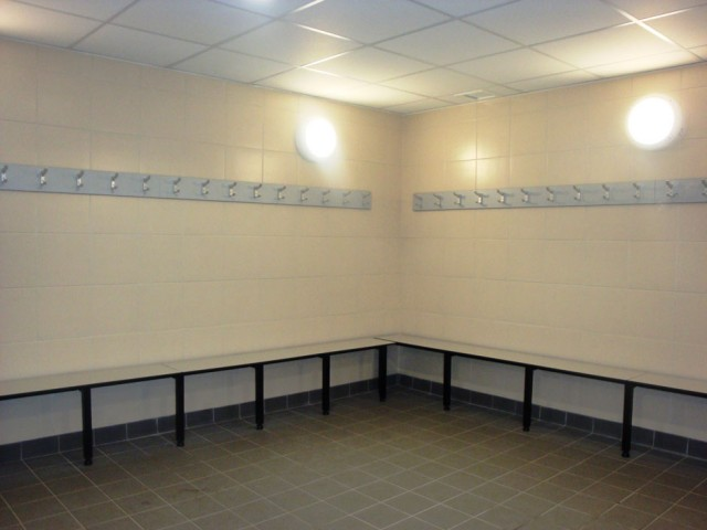 Brentford Fountain Leisure Centre, Changing Room Benches Area