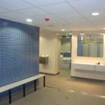 Brentford Fountain Leisure Centre, Blue Tiling Changing Room