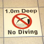 The Venue Swimming Pool, Borehamwood, No Diving Sign