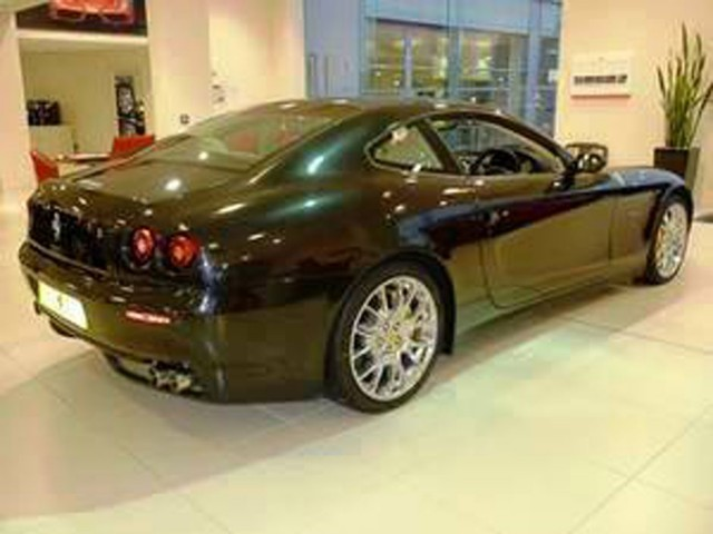 Maserati and Ferrari Showroom, Colchester, Black Ferrari on Tiled Floor