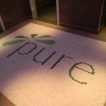 Pure logo - Glass mosaic floor