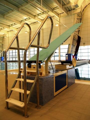 Garons Pool - Dive Board Plinth Detail