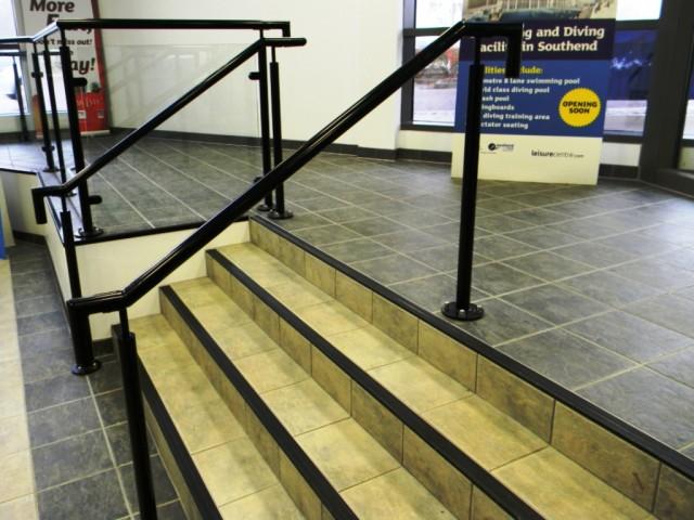 Garons Pool - Main Entrance Steps Detail