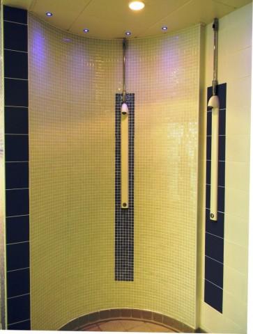 Garons Pool - Pre Swim Shower Mosaic Detail