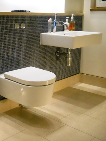 Denewood Road - WC Mosaic & Tech Stone Floor