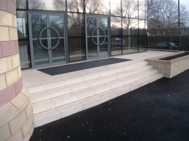 Kadwa Patidar Centre - External Main Entrance Steps 01