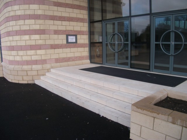Kadwa Patidar Centre - External Main Entrance Steps 02