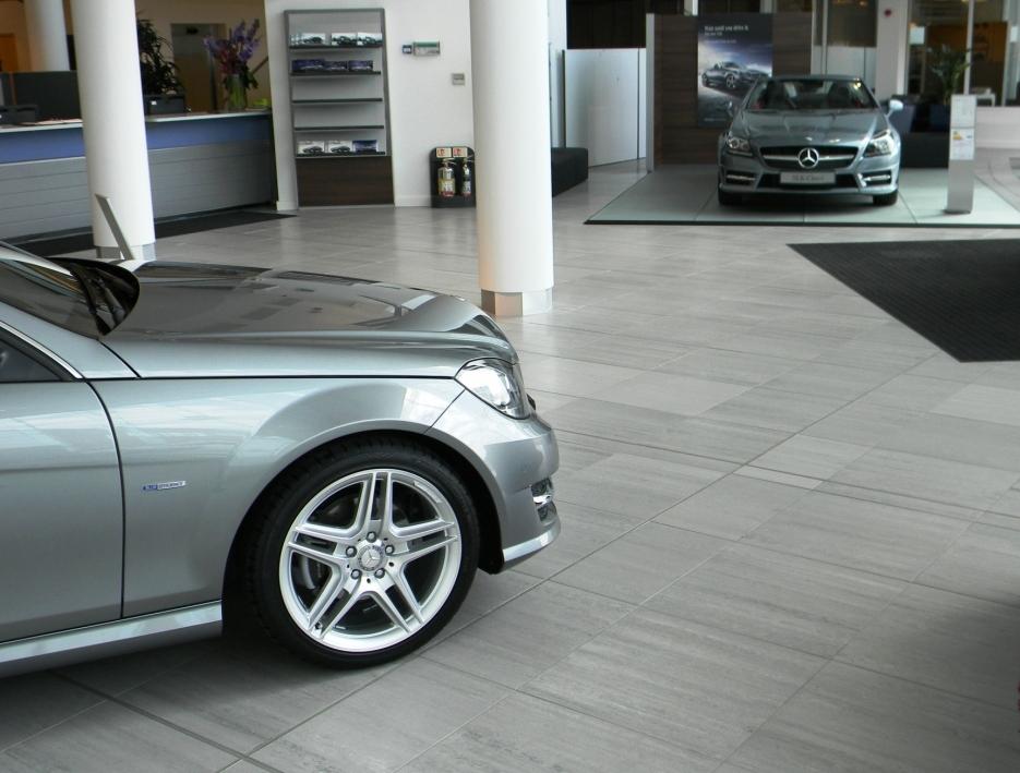Mbuk main showroom floor to main entrance elite tiling ltd for Mercedes benz main office