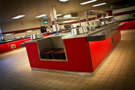 RAF Marham Junior Ranks Mess - main kitchen2