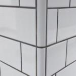 Ceramic Wall Corner Piece Detail