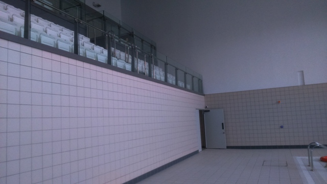 Wall Elevation Spectators Seating Main Pool