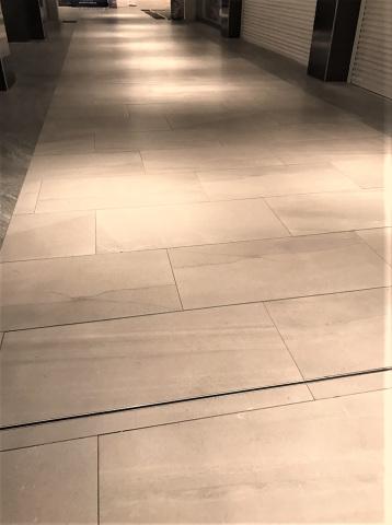 Floor Tiling with Contrasting Band